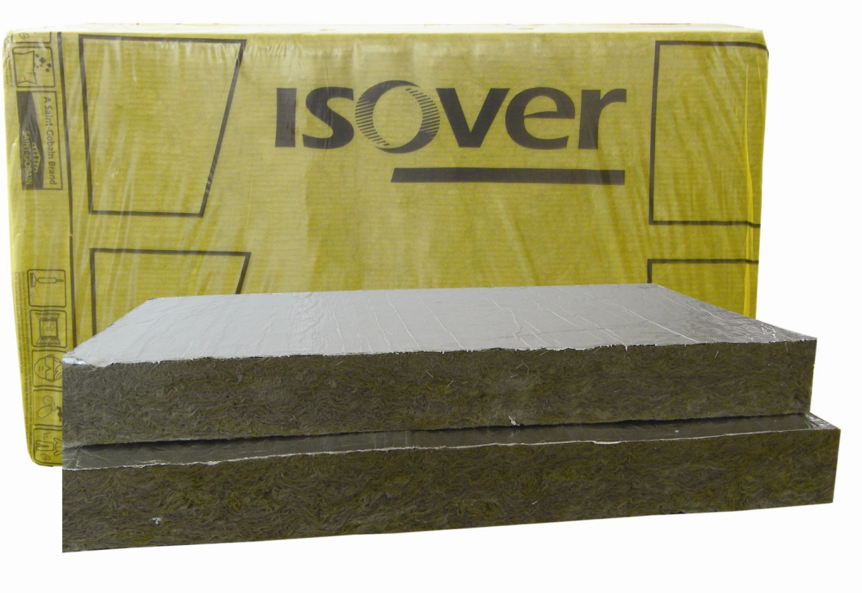 Vata minerala bazaltica Isover PLU caserata cu aluminiu 1000 x 600 x 80 mm