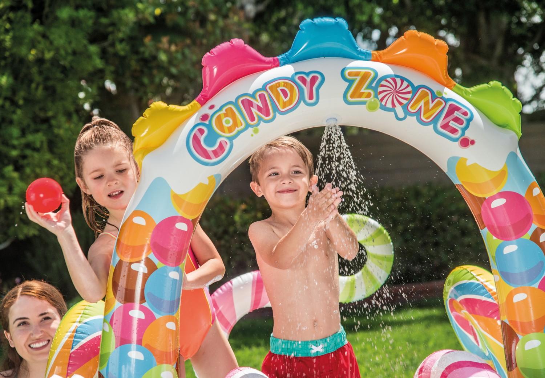Piscina gonflabila Intex Candy 57149NP, pentru copii, 295 x 191 x 130 cm + accesorii joaca