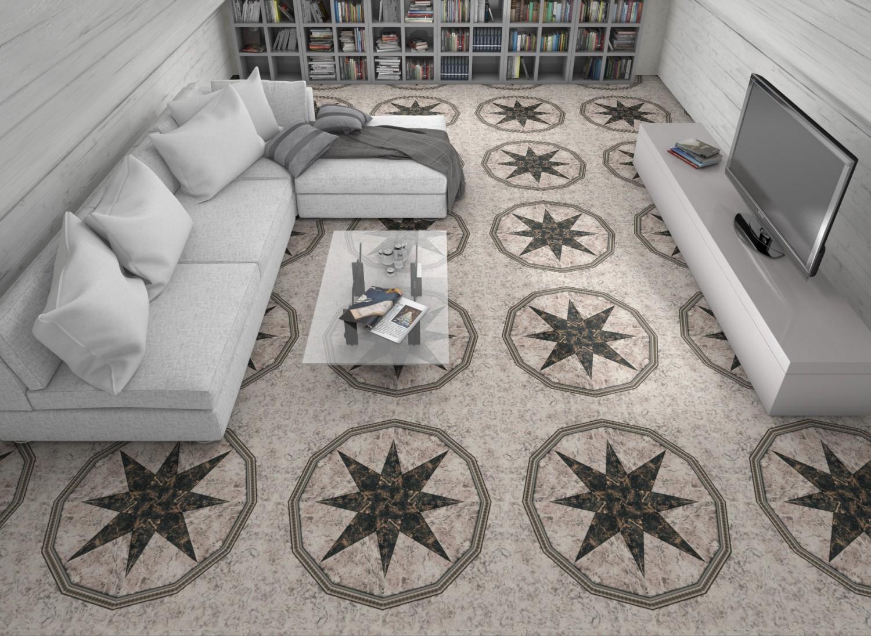 Gresie decor interior, universala, Dakar mix lucioasa PEI. 3 50 x 50 cm
