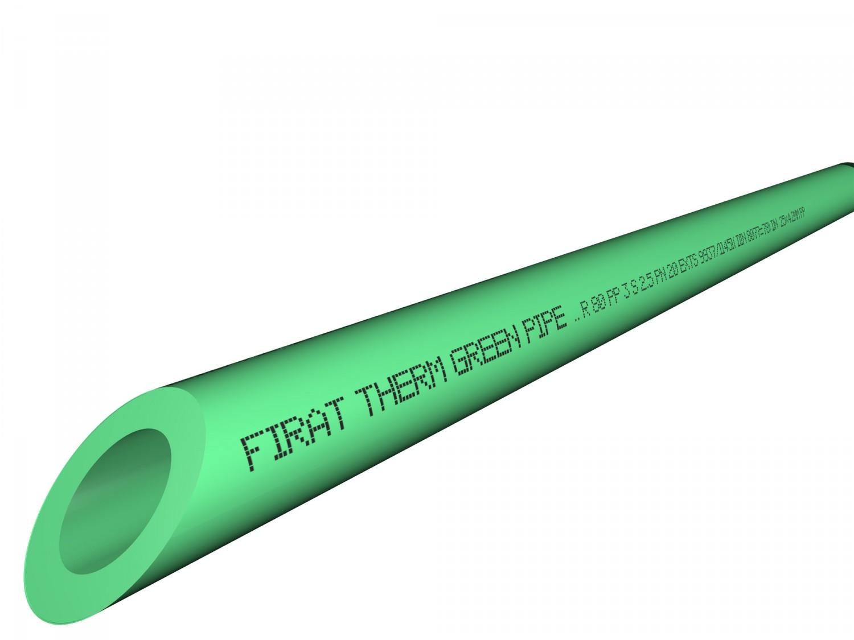 Teava PP pres 20 cu fibra verde L=4 m