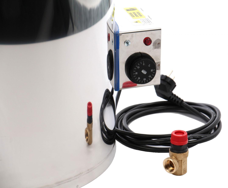 Boiler baie INXEL 110 pe lemne cu rezistenta 2kW 110L
