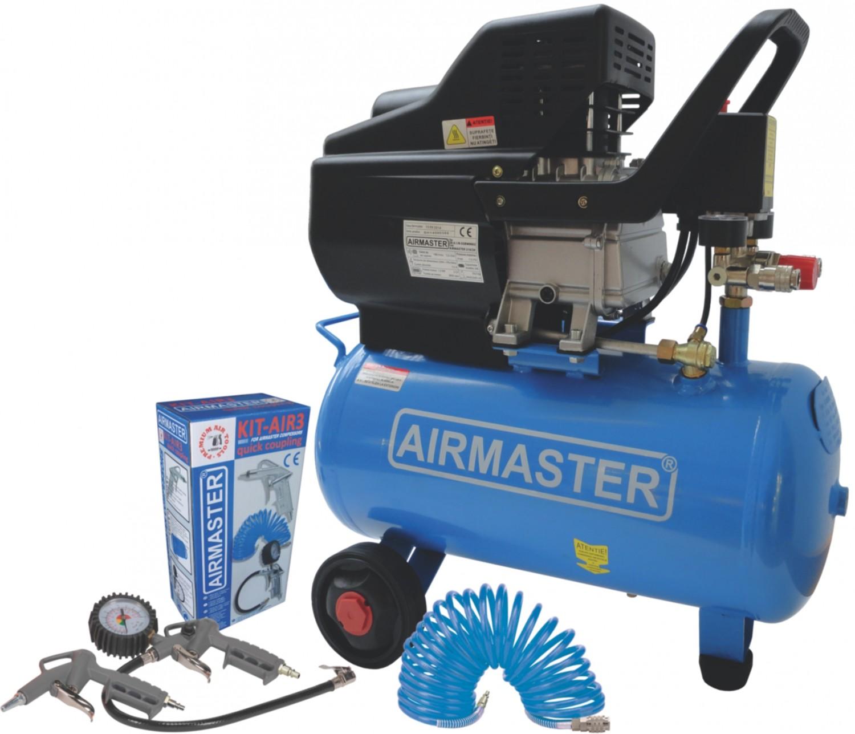 Compresor aer cu piston, cu ulei,  Airmaster 210/24, 1.5 Kw, 24 litri + accesorii