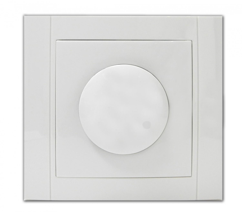 Variator de tensiune cu LED Comtec Anemon, alb, 1000W, rama inclusa