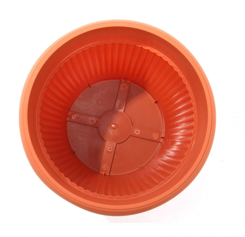 Ghiveci din plastic Hobby, maro D 40 cm