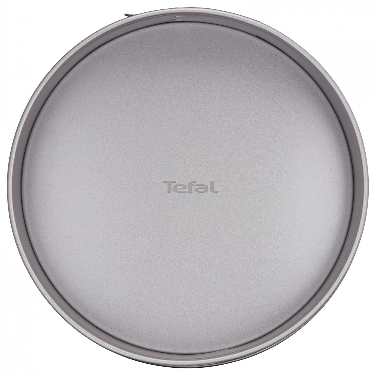 Tava rotunda pentru copt, Tefal Delibake Springform, otel carbon, margine detasabila, rosu / gri, D 27 cm