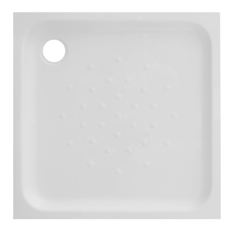 Cadita de dus patrata Martplast Mexic, acril, alb, 80 x 80 x 15 cm