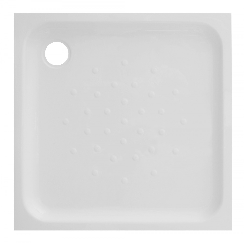 Cadita de dus patrata Martplast Mexic, acril, alb, 90 x 90 x 17 cm