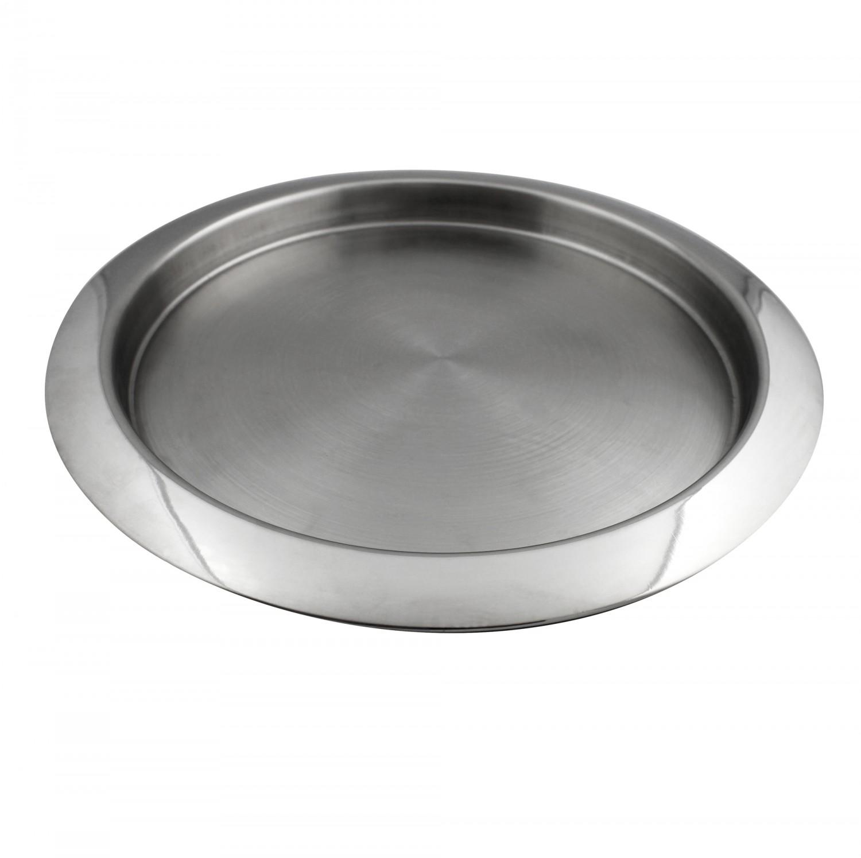 Tava rotunda pentru servire, Kasemi 1101425, inox, 30 cm