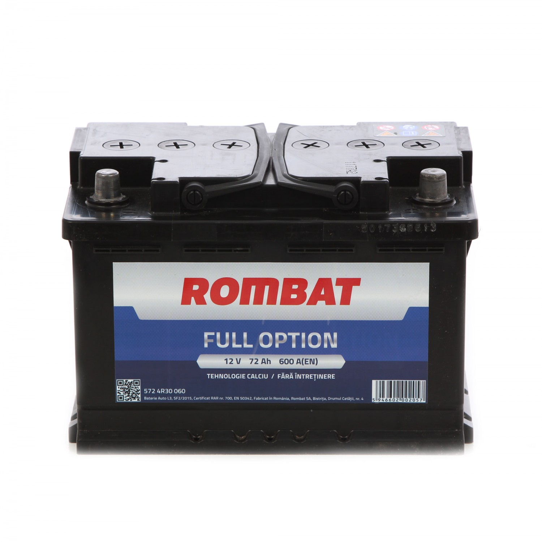 Baterie auto Rombat Full Option 12V, 72 Ah, 600 A, 27.8 x 17.5 x 15.3 cm