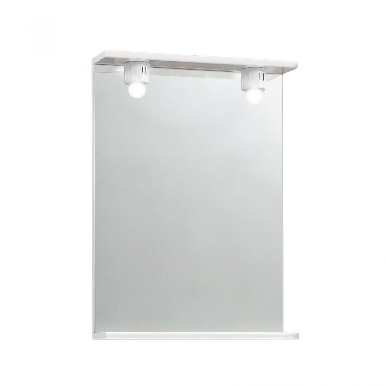 Oglinda baie Savini Due 900EC, cu iluminare, 52 x 71 cm, 1 etajera