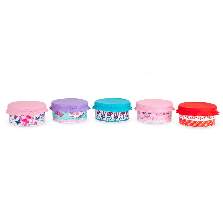Cutie cupcake + capac siliconat, 86011, diverse culori, 10 x 5.5 cm
