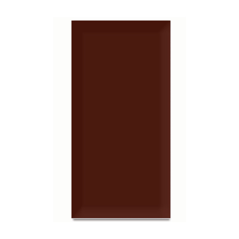 Faianta baie Metro Bevel rosie lucioasa 10 x 20 cm