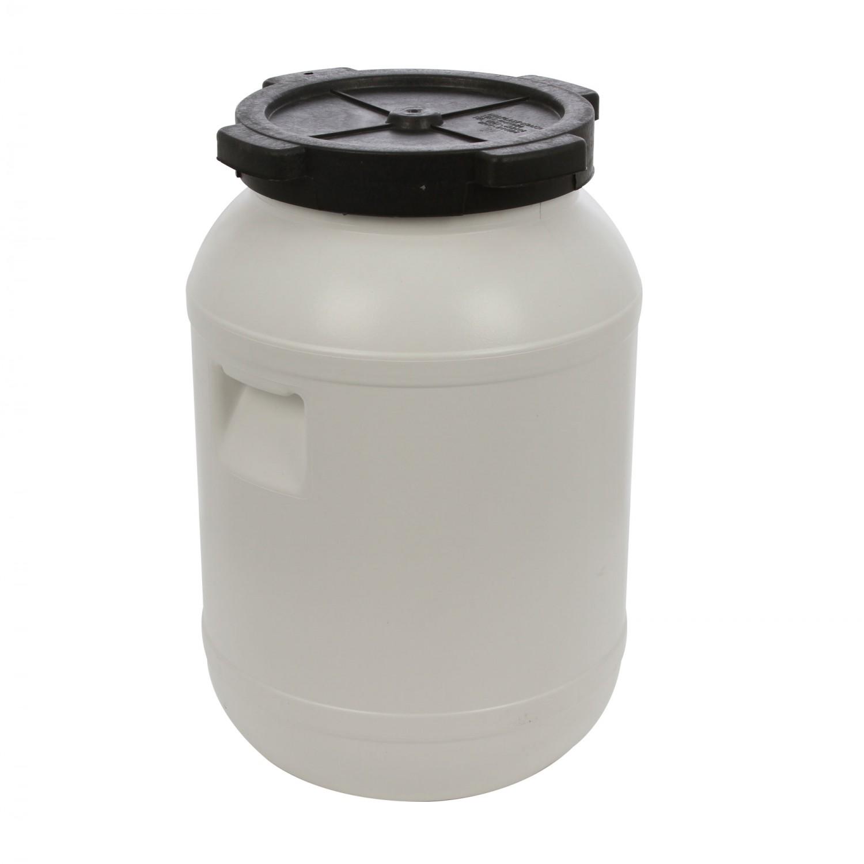 Bidon Dolplast, alb, plastic, cu capac,  30L