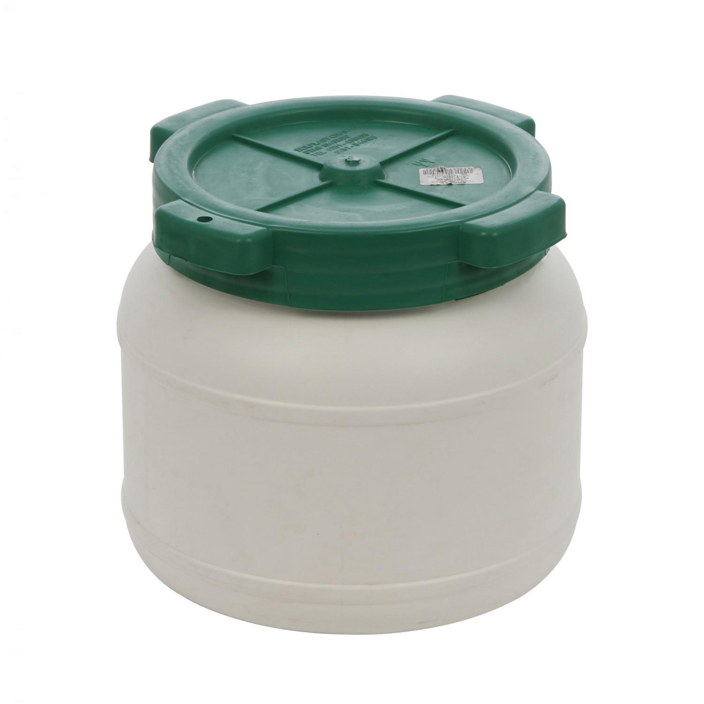 Bidon Dolplast, alb, plastic, cu capac,  5L