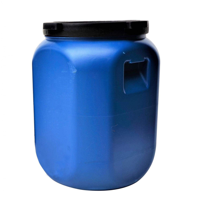 Bidon Dolplast, albastru, patrat, cu capac, 41 x 41 x 56 cm, 60L