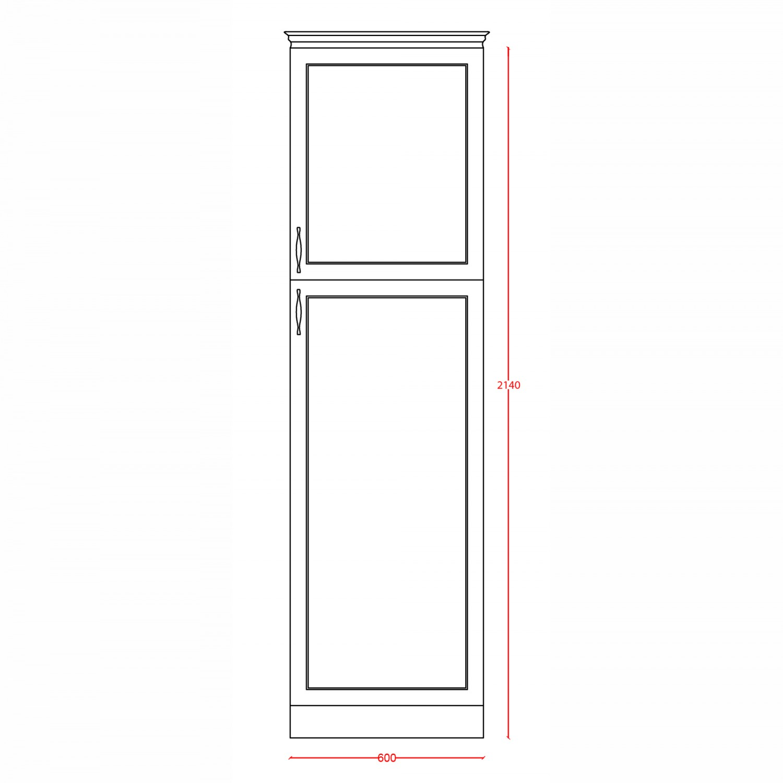 Dulap bucatarie Rhea, nuc, 2 usi, 60 x 60 x 214 cm