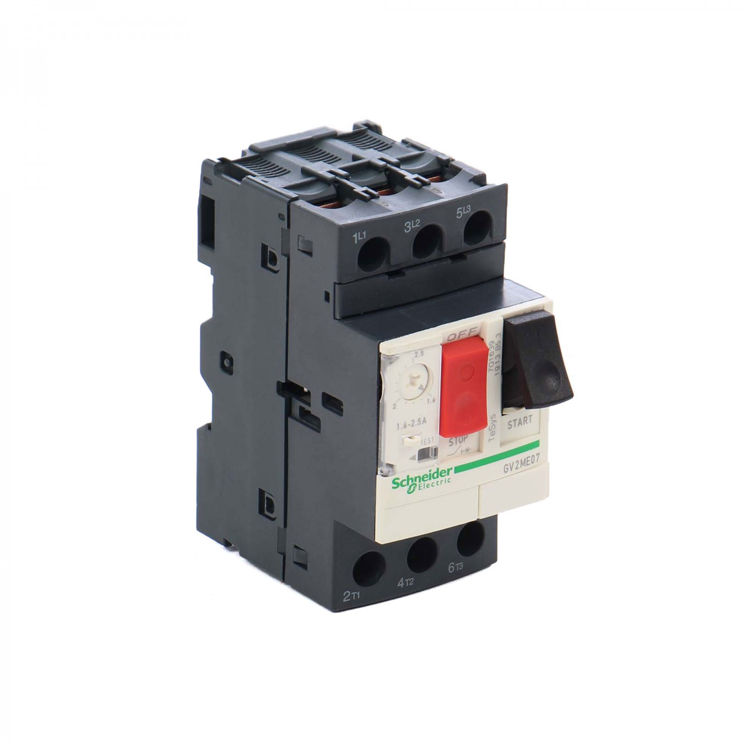 Disjunctor motor Schneider Electric TeSys GV2ME07, termo-magnetic, 3 poli, 1.6 - 2.5 A