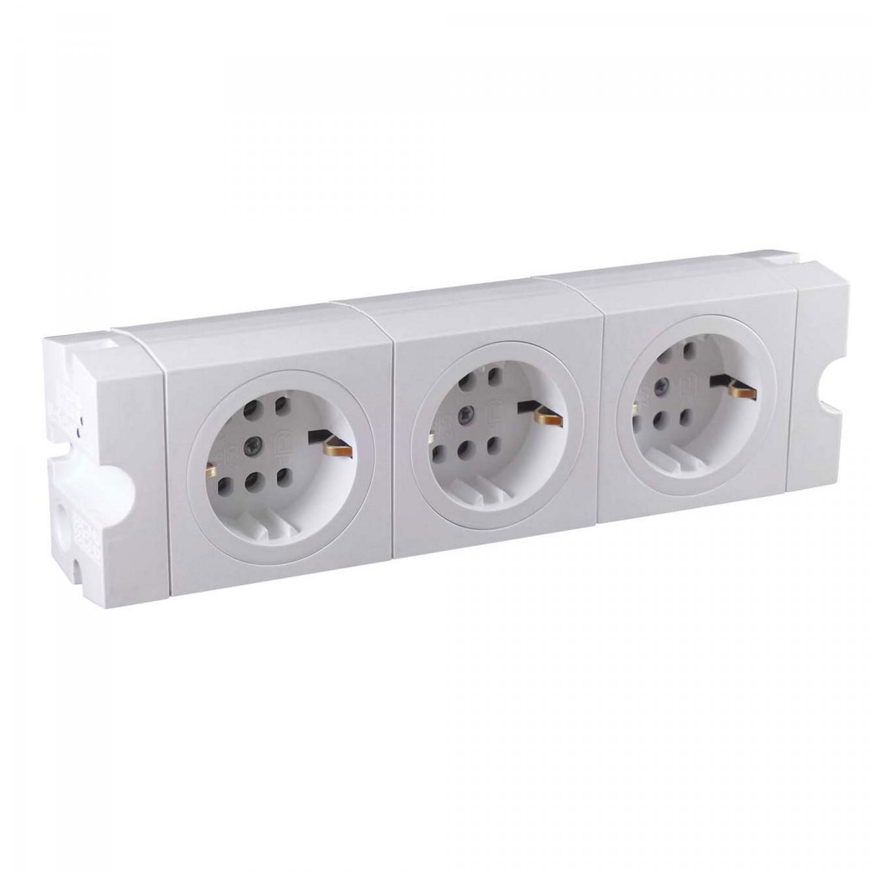 Bloc modular PT 015085, aplicat, 3 prize, contact de protectie