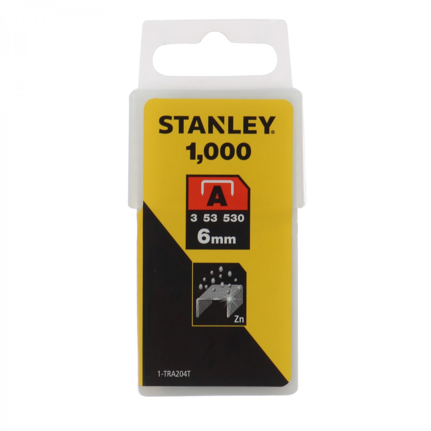 Capse tip A, Stanley, 6 mm, set 1000 bucati