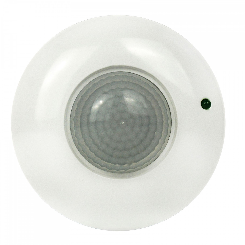 Senzor de miscare Hepol, interior (IP20), alb, 360 grade