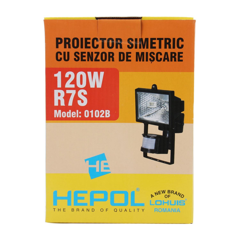 Proiector halogen Hepol 120W, cu senzor