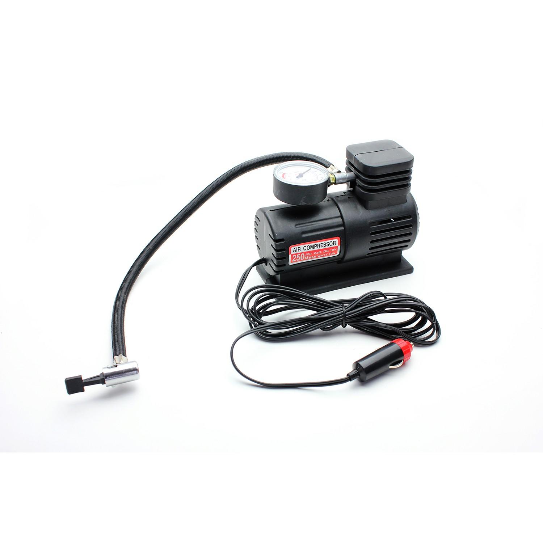 Compresor auto, pentru umflat roti, cu manometru analogic, 25 PSI, 12 V