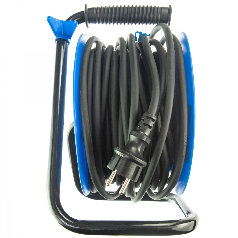 Derulator cablu electric Hepol, 4 prize, 25 m, 3 x 2.5 mmp, contact de protectie