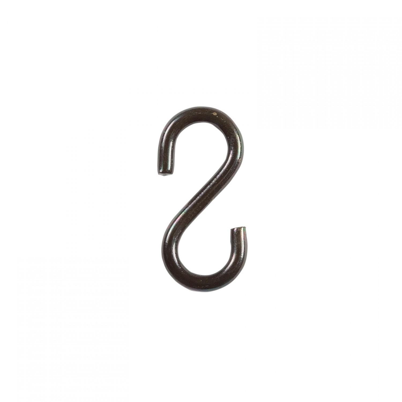 Carlig tip S, din fier forjat, 31.5 x 6 x 3.8 mm