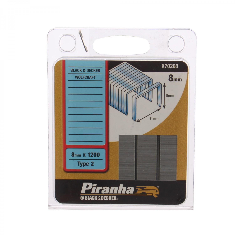 Capse tip 2, 8 mm, Black&Decker, Piranha X70208, set 1200 bucati