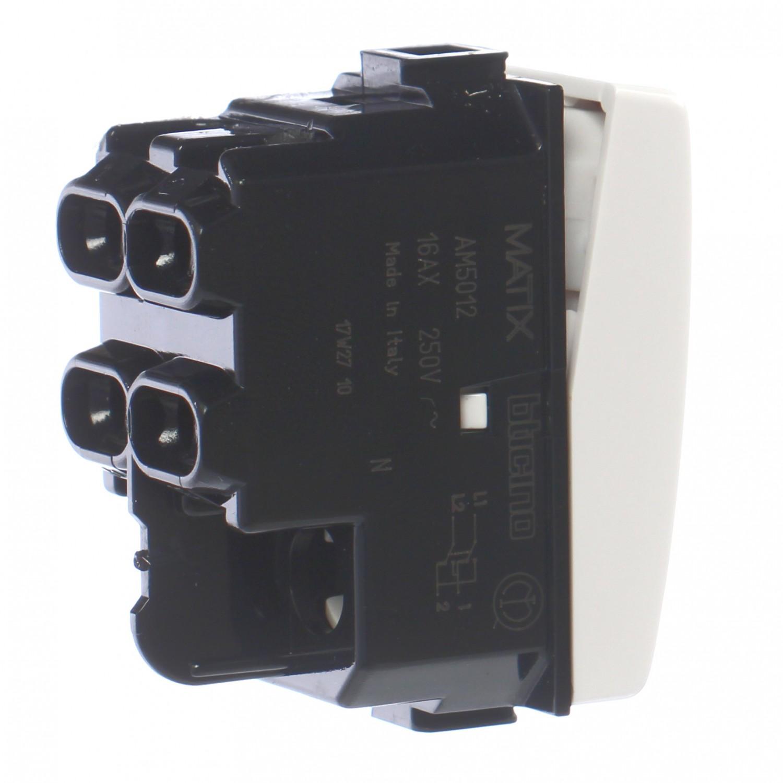 Intrerupator cap cruce Bticino Matix SAM5012E, incastrat, modular - 1, alb
