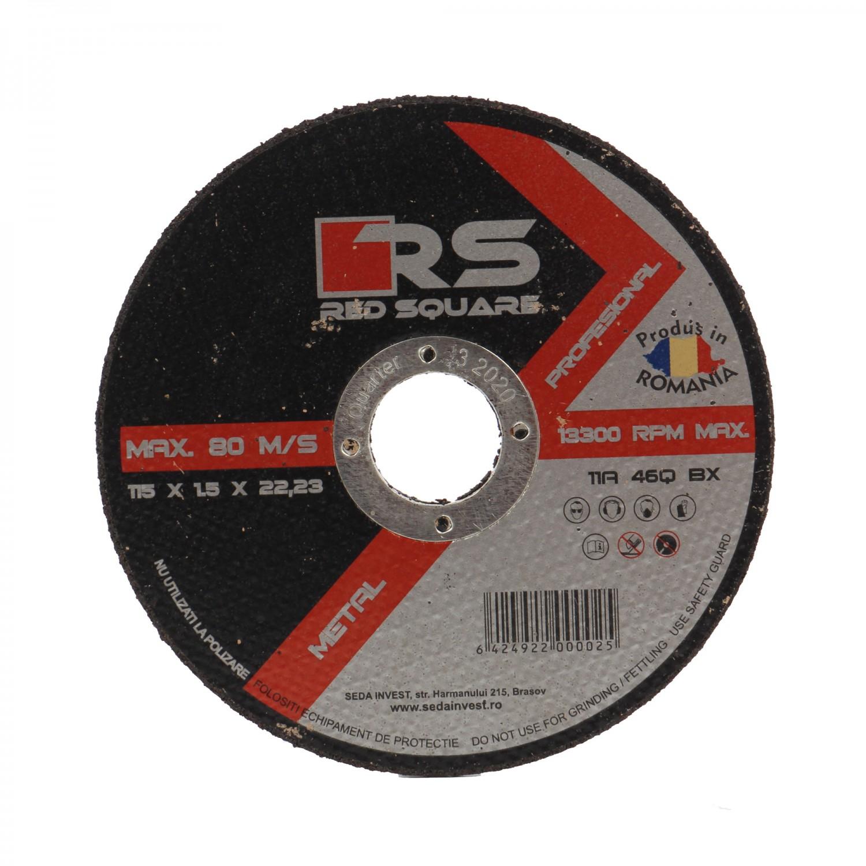Disc debitare metal, Red Square, 115 x 22.2 x 1.5 mm