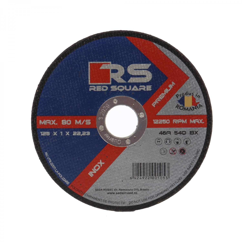 Disc debitare inox, Red Sqare, 125 x 22.2 x 1 mm