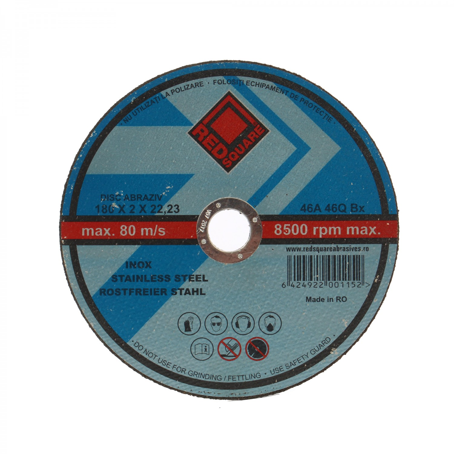 Disc debitare metal, Red Square, 180 x 22.2 x 2 mm