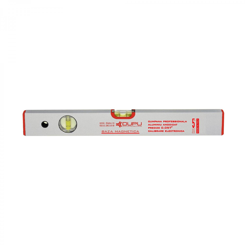 Nivela cu bula, magnetica, Level Instruments 452600, cu 2 indicatori, din aluminiu