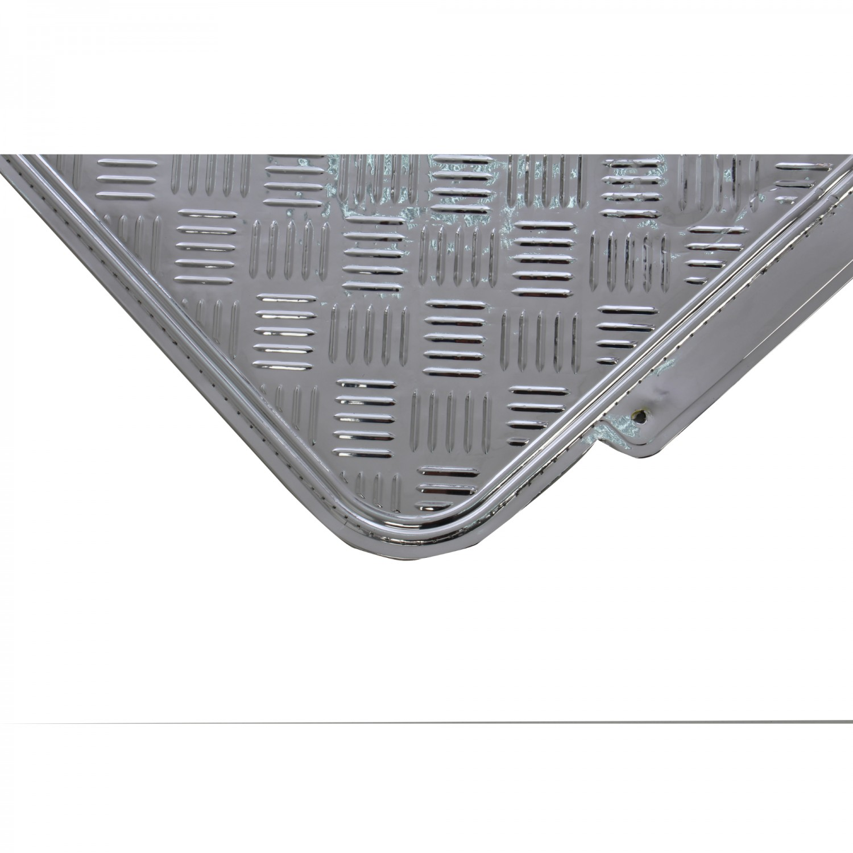 Covorase auto VGT Tuning, PVC, argintiu, 42 x 45 / 70 x 45 cm, set 4 bucati
