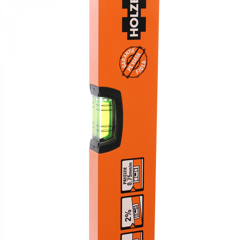 Nivela cu bula, Holzer 750-40-100, cu 2 indicatori, din aluminiu, 1000 mm