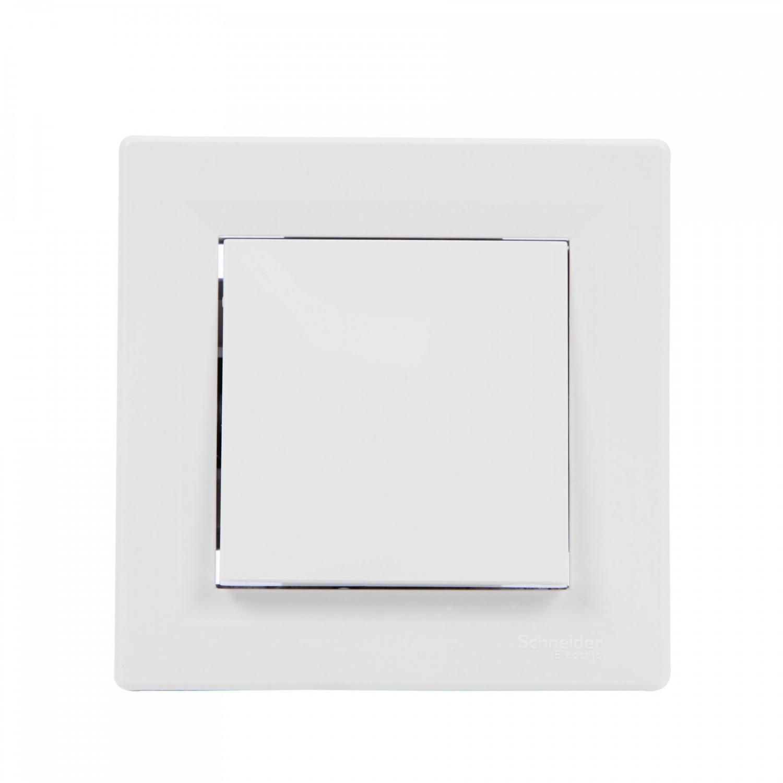Intrerupator simplu Schneider Electric Asfora EPH0100121, incastrat, rama inclusa, alb