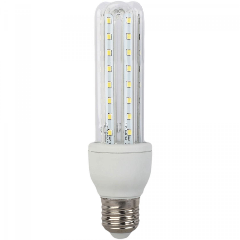 Bec LED Hoff tubular 3U E27 9W lumina rece