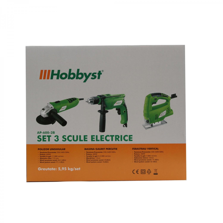 Set 3 scule electrice HOBBYST AP-600-2B