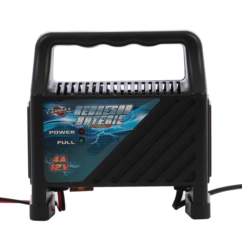 Redresor incarcare acumulatori auto Carmax, 12 V, 4 A, 20 x 11 x 17 cm
