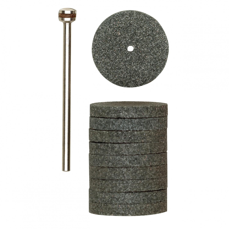 Disc pentru polizat metale, din carbura de siliciu, Proxxon 28304, 22 mm, set 10  bucati