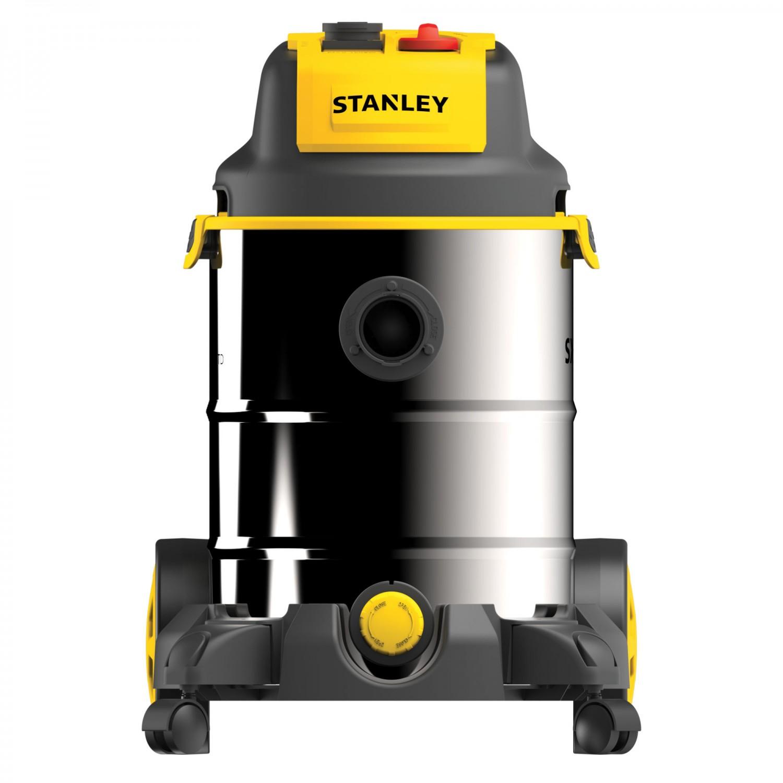 Aspirator Stanley SXVC30XTDE, cu sac, aspirare uscata si umeda, 30 l, cuva inox, 1600 W