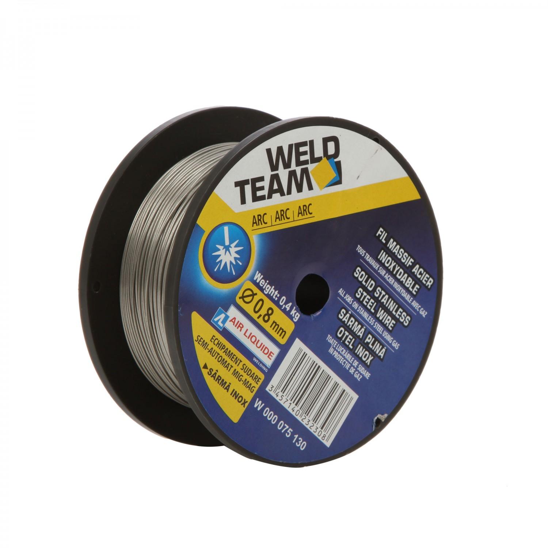 Sarma plina, pentru sudura inox, 0.8 mm, 0.400 kg