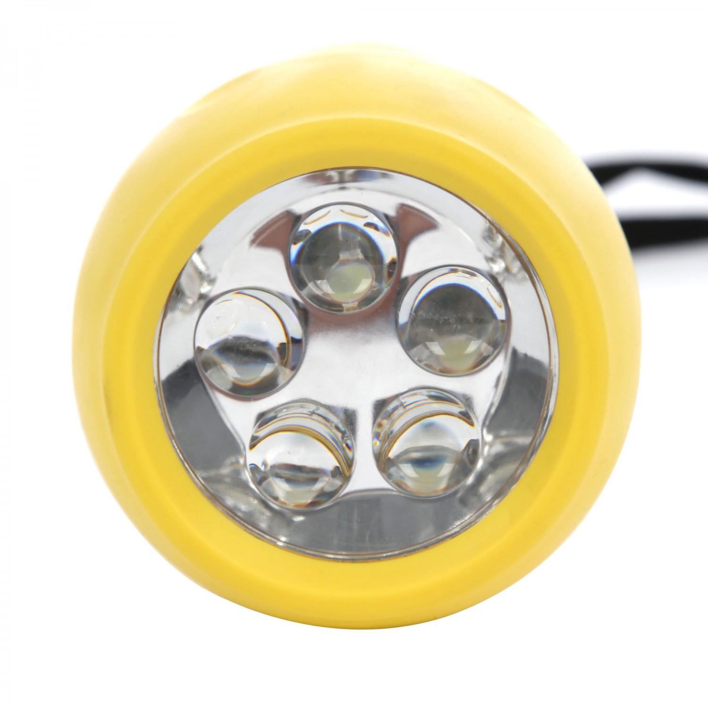 Lanterna LED Hoff, alimentare baterii (2 x R20), ABS, galbena