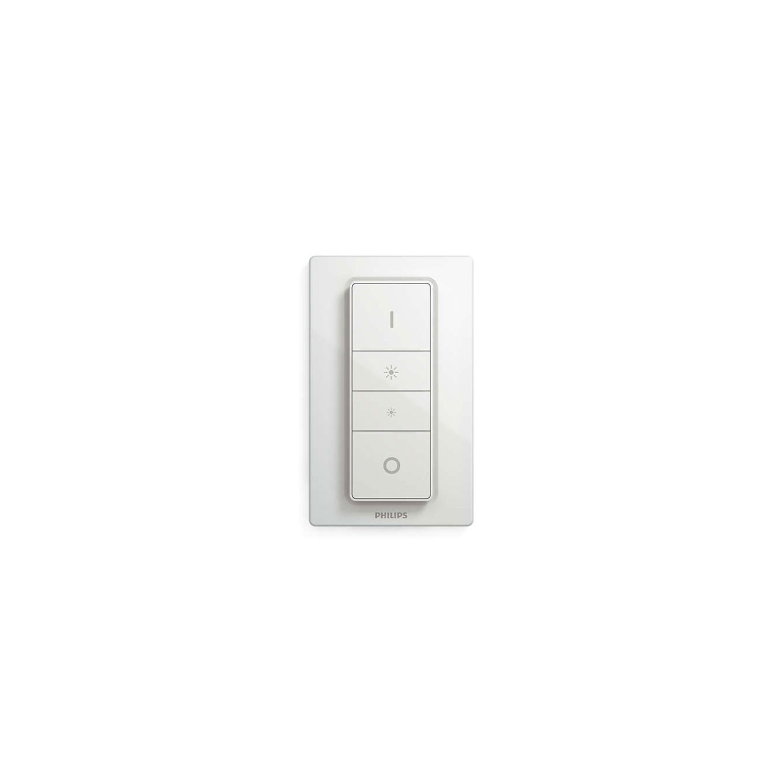 Spot LED Hue Pillar 5633230P7, 2 x GU10, 11 W, negru + intrerupator