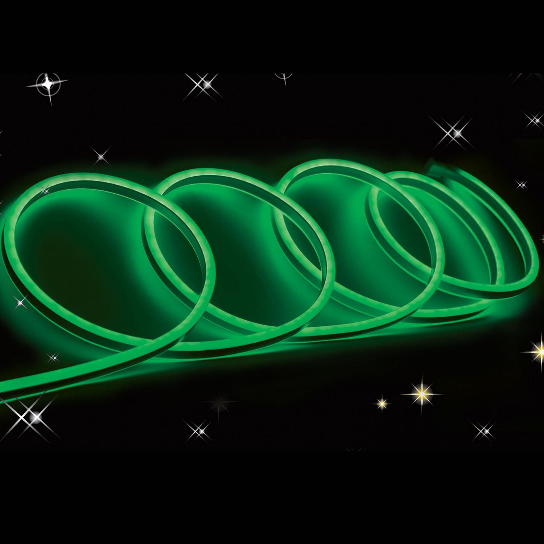 Cablu neon 120 LED / m Hoff verde interior / exterior 5 m