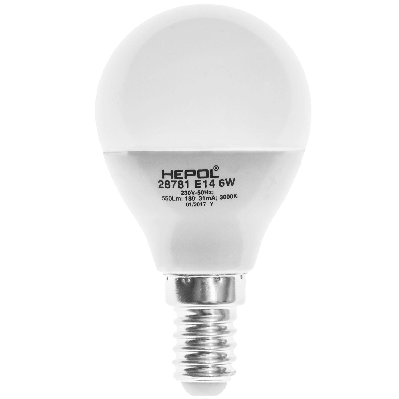 Bec LED Hepol mini E14 6W lumina calda, dimabil