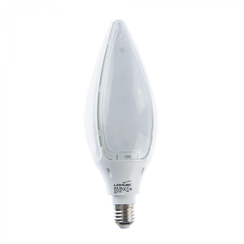 Bec LED Lohuis floare G93 E27 25W lumina rece