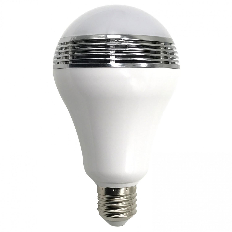 Bec inteligent LED RGB Hoff cu boxa bluetooth 3W
