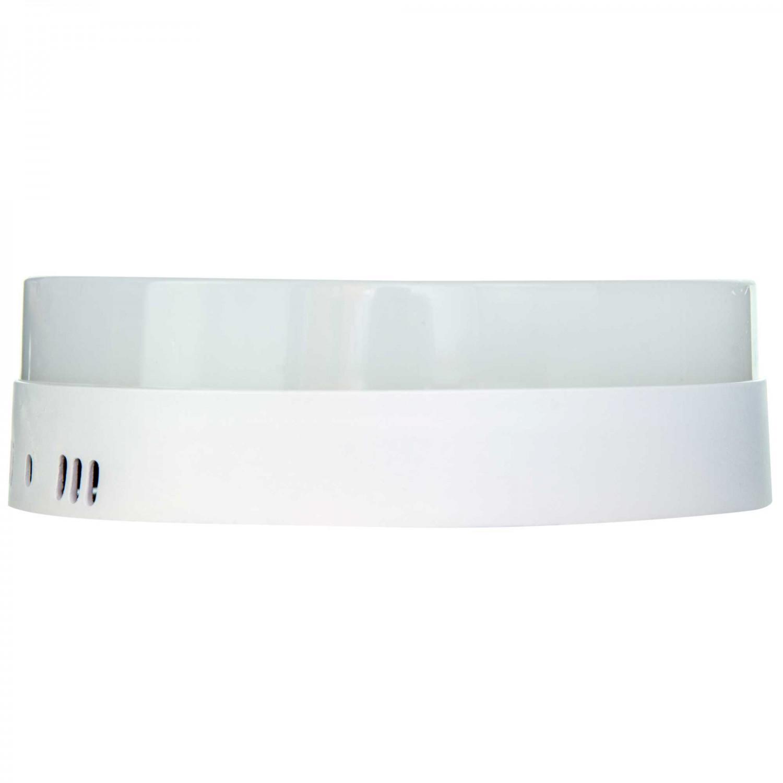 Aplica LED aparenta Hepol 18W rotunda lumina rece